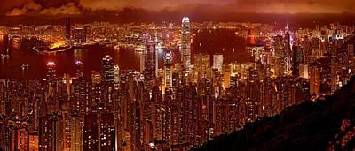 Photograph - Hong Kong In Golden Brown by Monique's Fine Art