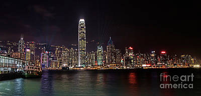 Hong Kong Photograph - Hong Kong By Night by T Lang
