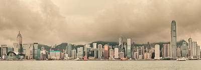 Photograph - Hong Kong City Skyline by Songquan Deng