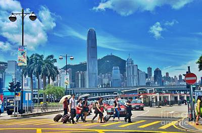Photograph - Hong Kong Crosswalk  by Sarah Mullin