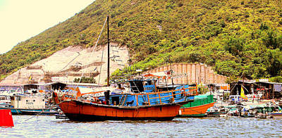 Photograph - Hong Kong Fishing Boat by John Potts