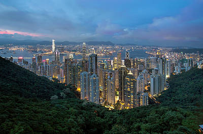 Scenic Photograph - Hong Kong From Sky Terrace 428 At Victoria Peak by David Gn