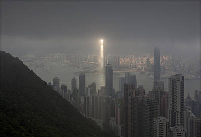 Hong Kong From Victoria Peak Art Print by Pavel Kiselev