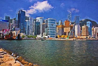 Hong Kong Mixed Media - Hong Kong Harbor by Garland Johnson