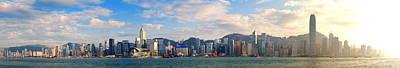 Photograph - Hong Kong Harbor by Songquan Deng