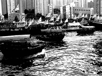 Photograph - Hong Kong Harbour by Jacqueline M Lewis