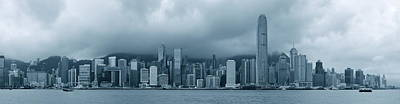 Photograph - Hong Kong In Black And White by Songquan Deng