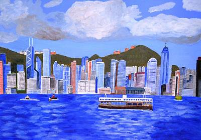 Art Print featuring the painting Hong Kong by Magdalena Frohnsdorff