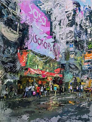 Hong Kong Nathan Road Mess Art Print by Yury Malkov