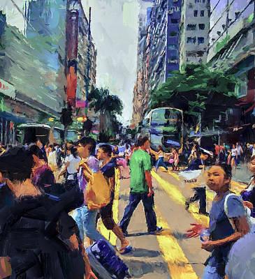 Hong Kong Nathan Road Art Print by Yury Malkov