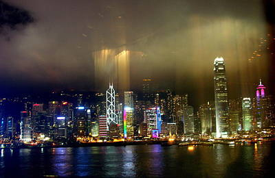 Photograph - Hong Kong Night by Jacqueline M Lewis