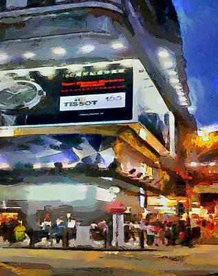 Hong Kong Night Lights 1 Art Print by Yury Malkov