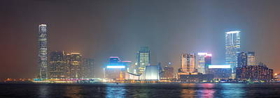 Photograph - Hong Kong Night View by Songquan Deng