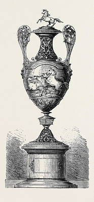 Hong Kong Drawing - Hong Kong Races The Barristers Cup 1861 by English School
