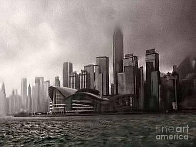 Hong Kong Rain 5 Art Print