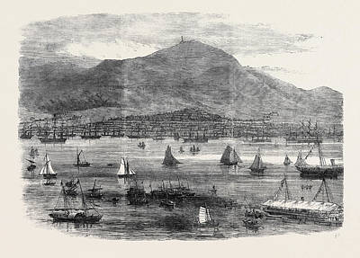 Hong Kong Drawing - Hong Kong Regatta The Start For The Scratch Match 1869 by English School