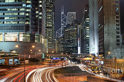 Hong Kong Rush Hour Art Print by Lars Ruecker