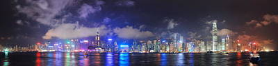 Photograph - Hong Kong Skyline Panorama by Songquan Deng