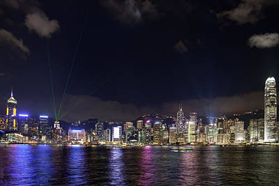 Central Photograph - Hong Kong Symphony Of Lights Show by David Gn