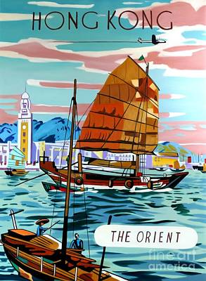 Painting - Hong Kong - The Orient by Reproductions