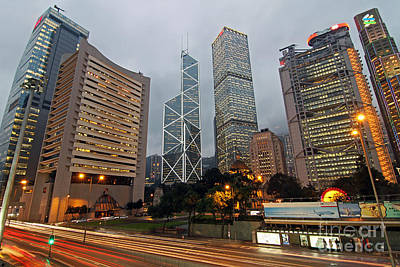 Hong Kong's Financial Center Art Print
