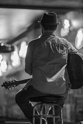 Photograph - Honky Tonk Guitar Player by John McGraw