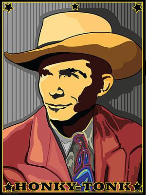Honky Tonk Hank Williams Art Print by Larry Butterworth