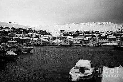Honningsvag Harbour And Bryggen View  Finnmark Norway Europe Art Print by Joe Fox