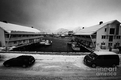 Honningsvag Harbour Finnmark Norway Europe Print by Joe Fox