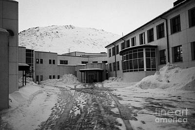 Honningsvag Primary School And Library Finnmark Norway Europe Print by Joe Fox