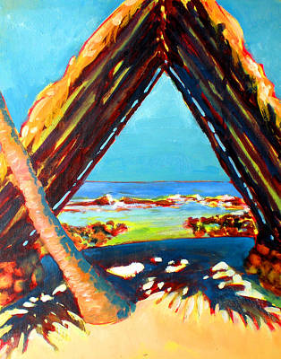 Fauvist Painting - Honokohau Halau - Canoe Shed by Richard Rochkovsky