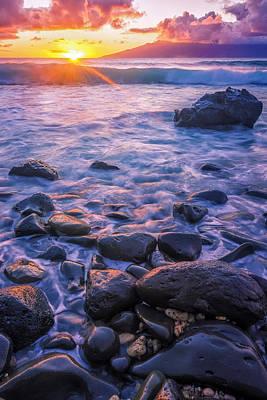 Honolua Sunset Art Print by Hawaii  Fine Art Photography