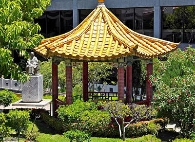 Photograph - Honolulu Airport Chinese Cultural Garden by Michele Myers