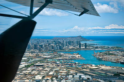 Photograph - Honolulu And Diamond Head by Dan McManus