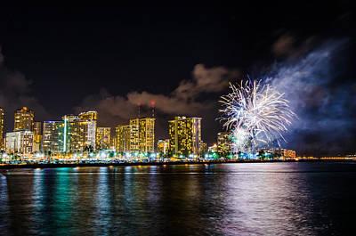 Photograph - Honolulu Fireworks 5 by Jason Chu