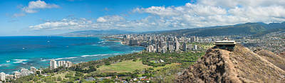Photograph - Honolulu From Diamond Head Crater by Dan McManus