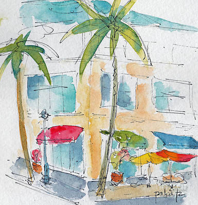 Oceania Painting - Honolulu Harbor Mall by Pat Katz