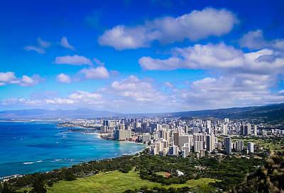 Honolulu Hawaii Art Print by Richard Brown
