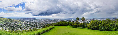 Photograph - Honolulu Thunderstorms Panorama by Jason Chu