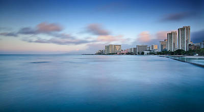 Photograph - Honolulu Waikiki Early Morning by Tin Lung Chao