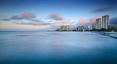 Photograph - Honolulu Waikiki Early Morning by Tin Lung Chao