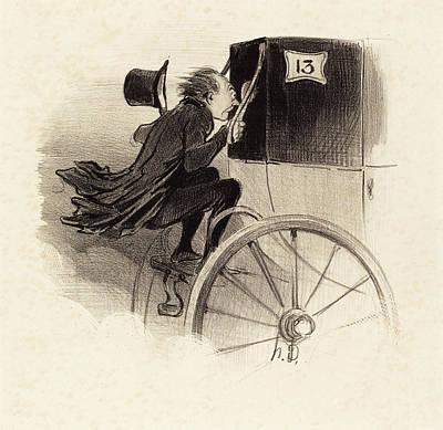 Tr Drawing - Honoré Daumier French, 1808 - 1879, Ah Très Bien Jen Suis by Quint Lox