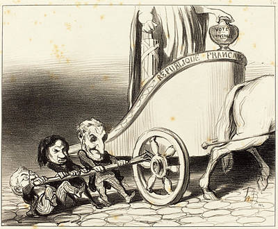 Honoré Daumier French, 1808 - 1879, Ce Char Marchera Art Print by Quint Lox