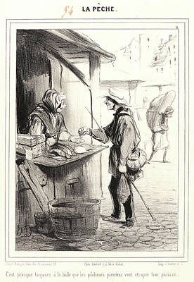 Paper Images Drawing - Honoré Daumier French, 1808 - 1879. Cest Presque Toujours by Litz Collection
