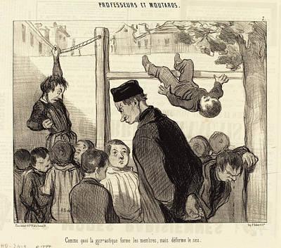 Formes Drawing - Honoré Daumier French, 1808 - 1879, Comme Quoi La by Quint Lox