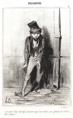Honoré Daumier French, 1808 - 1879. Cré Nom Elles Sont Print by Litz Collection