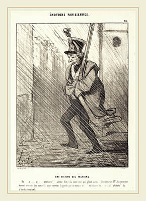 Honoré Daumier French, 1808-1879, Emotions Parisiennes Une Art Print by Litz Collection