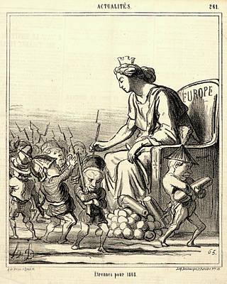 Honoré Daumier French, 1808 - 1879. Etrennes Pour 1868 Art Print