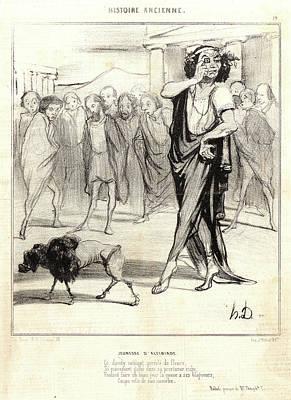 Honoré Daumier French, 1808 - 1879. Jeunesse Dalcibiade Art Print