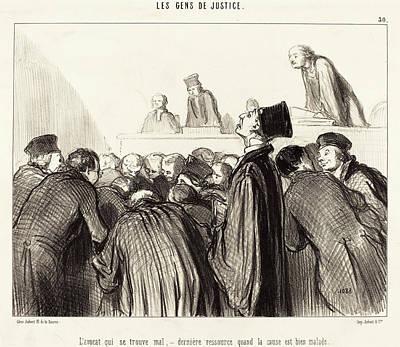 Honoré Daumier French, 1808 - 1879, Lavocat Que Se Trouve Art Print